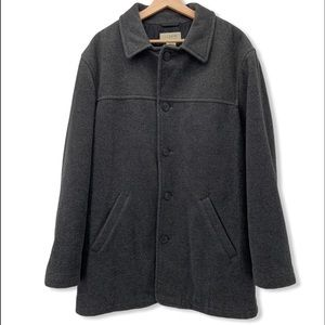 J. Crew Wool Button Front Lined Winter Overcoat